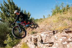As the trails got steeper and rowdier, it was possible to see what the new Turbo Levo was capable of