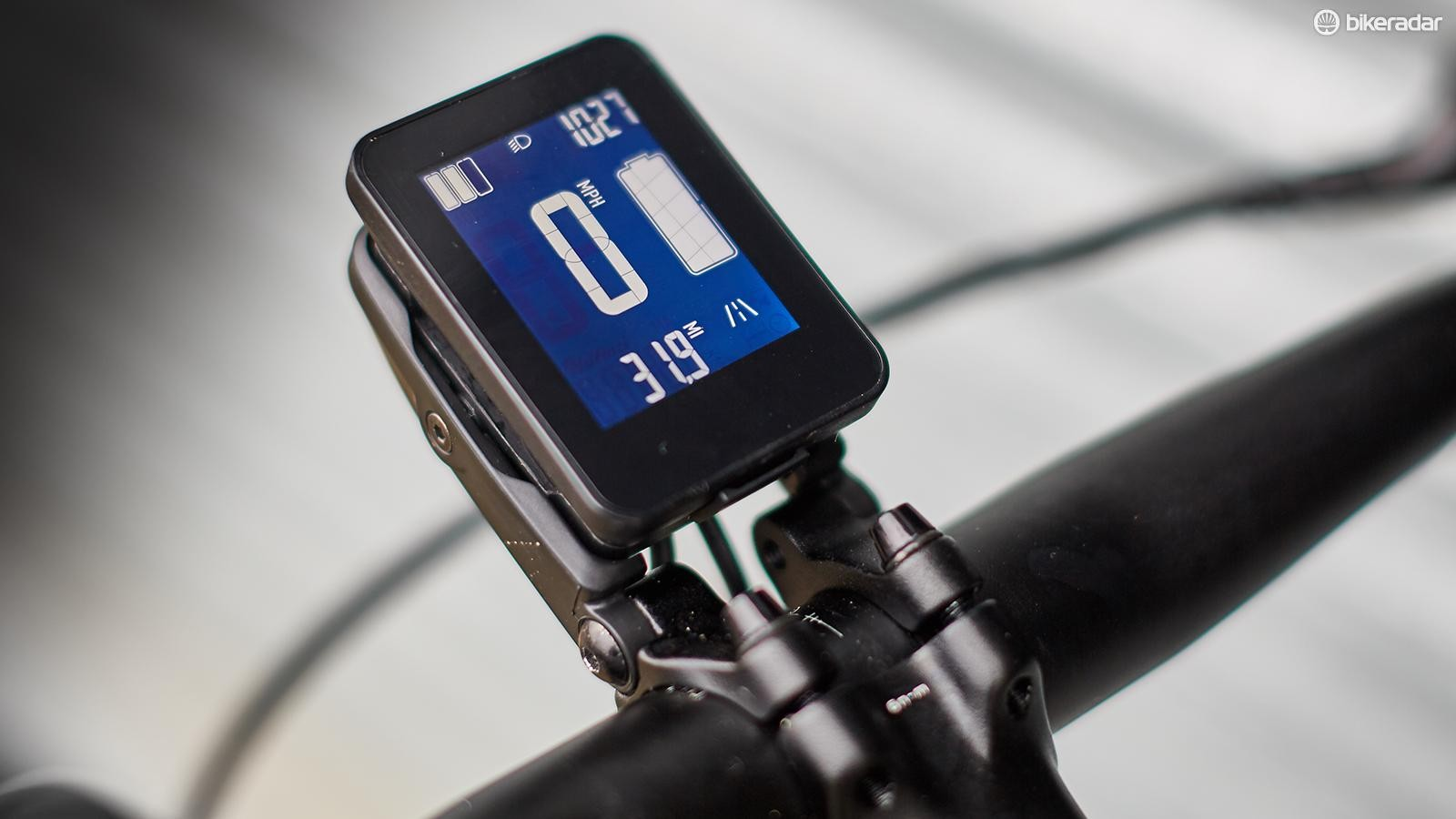 Keep an eye on your progress and the battery's remaining power with the control unit