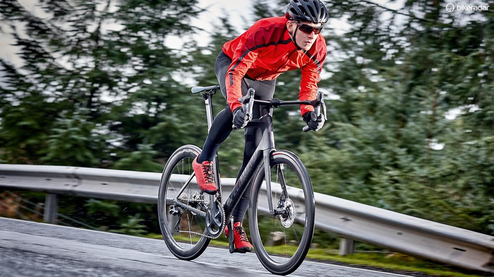 The Venge feels every inch a sharp-handling race bike, especially when down on the drops