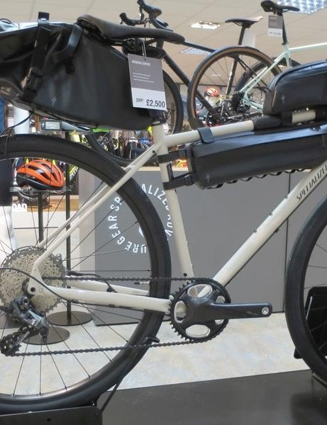 Specialized's new range-topping Sequoia Expert has a full complement of Burra Burra bike packing luggage
