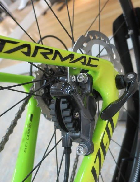 Shimano's BR-RS785 brakes handle stopping duties