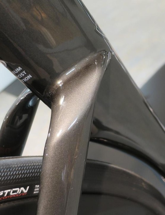 The same goes for the newly brake mount-free seat tube