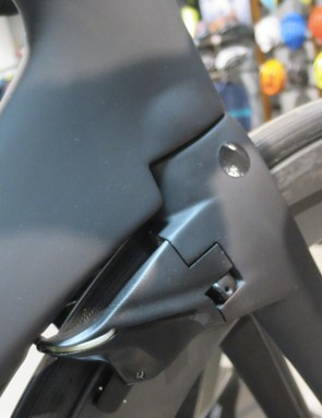 On the rim brake model, the brakes have been uprated with stiffer springs and made more user friendly to set up