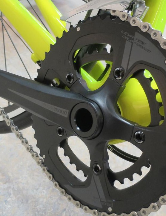 The Praxis Zayante chainset is an impressive additon to the Allez SL Sprint