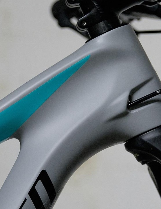 Swoopy lines and a tasteful colour palette make for a good looking bike