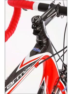 The Pro-Set stem gives a range of angles