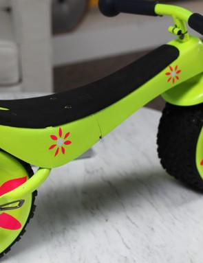 The Rock n' Roller was Specialized's first kids' bike. Coming initially with a rocker bottom which is later replaced with wheels. The wheels are very wide so it balances itself and children learn to ride a bike on the first attempt