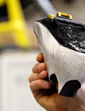 The carbon sole has a brilliant shape