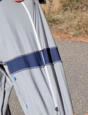 Since the material is so pliable, braces run the length of the back to support loaded pockets