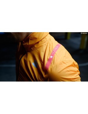 The HotPack branding from Sportful adorns the shoulder of the jacket