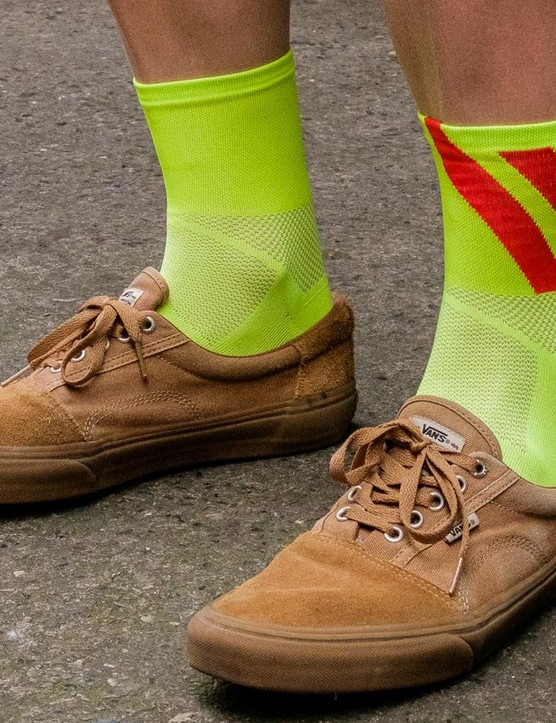 The R&D Cima socks, best worn with skate plimsolls