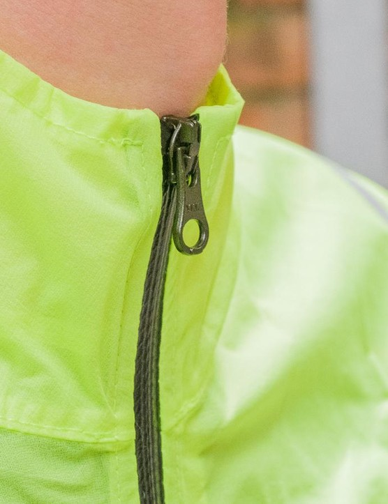 A full length YKK waterproof zip features on the jacket