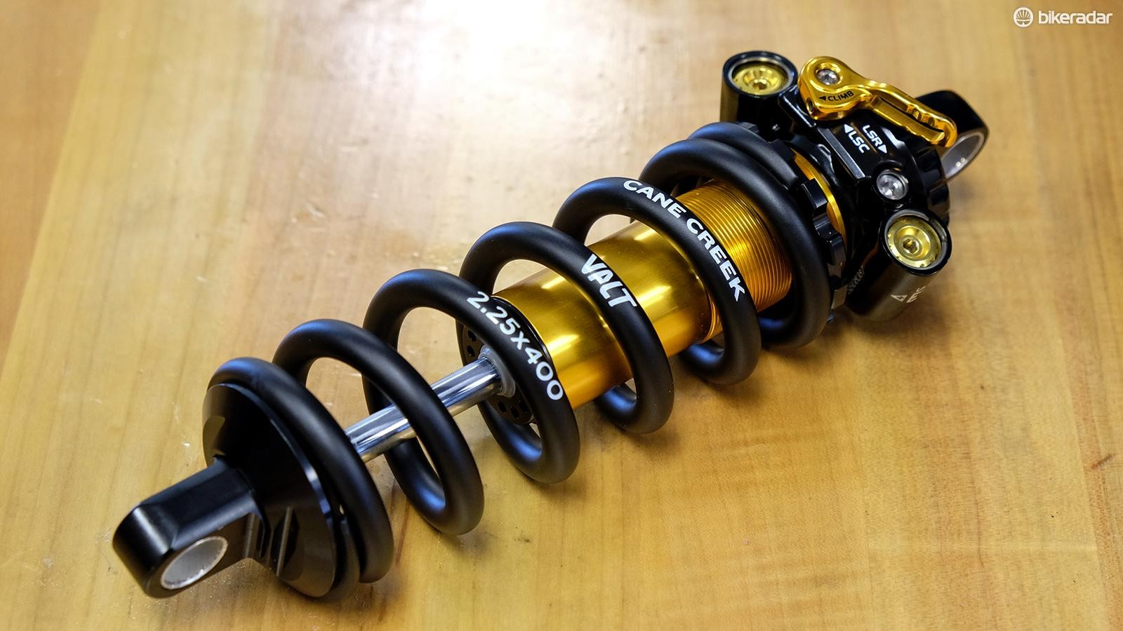 In addition to the new shock, Cane Creek has a new lightweight coil spring. The Valt is claimed to shave 50-221g off stock springs