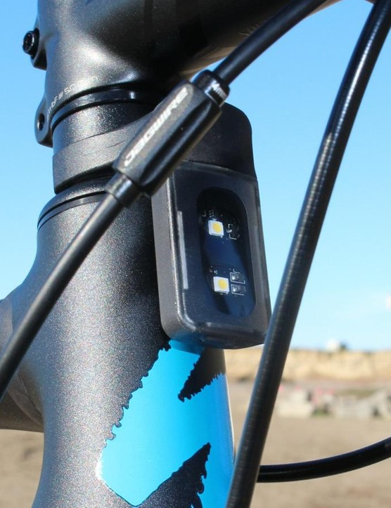 Specialized's Stix Sport Combo front and rear lights are easy to mount