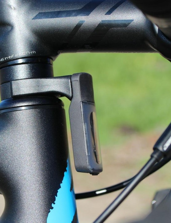 The Specialized Allez Sprint has a lower head tube than the standard Allez - which opens up some real estate for the light clamp
