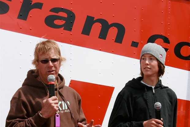 SRAM company spokesmen Greg Herbold (L) and Sam Schultz.