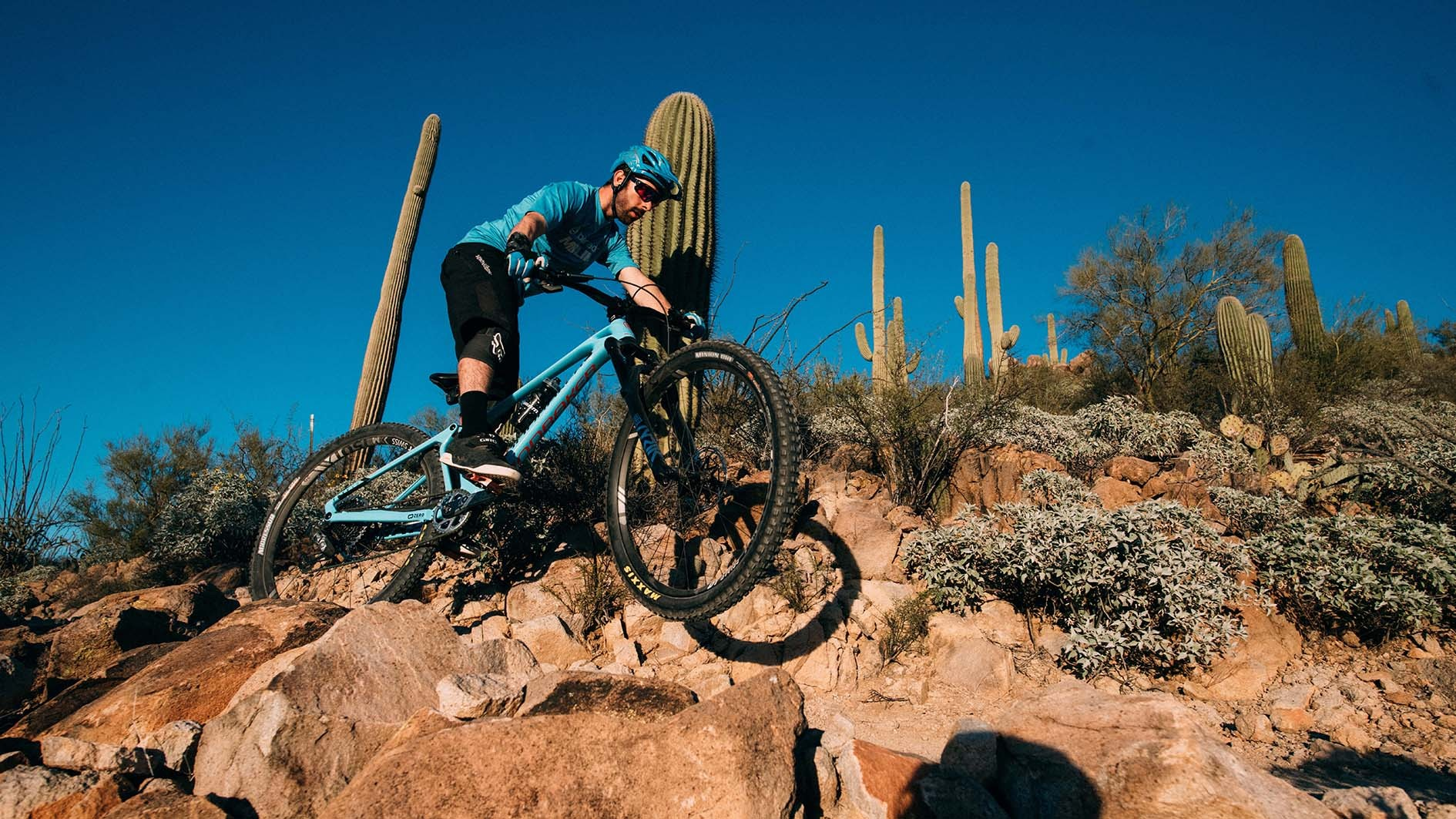 It was seriously rocky on the trail and on the final day, Rob smacked his derailleur into a rock but fortunately, the Overload Clutch did it's job and saved it and the shifting