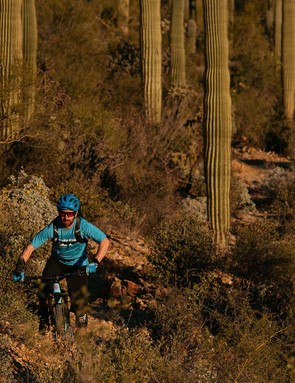 The Tucson trails are rocky, awkward and lack flow, making them perfect for trying out the new drivetrain thanks to the number of gear shifts required when trying to maintain speed