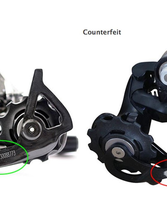 According the SRAM, cyclists should never ride products that appear to be from SRAM that have the product serial number scratched off