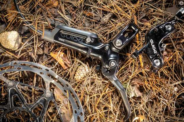 The SRAM Guide RSC brake weighs 438g (with 180mm rotor and adaptor)