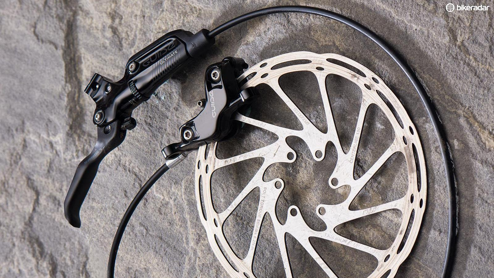Let's look at the best mountain bike disc brakes on the market, like SRAMS Guide Ultimate