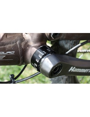 SRAM's HammerSchmidt bottom bracket was designed around a threaded shell