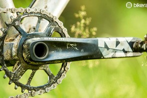 The 30-38t chainring is good and SRAM's 'X-SYNC' narrow/wide tooth profiling feels no different with the NX
