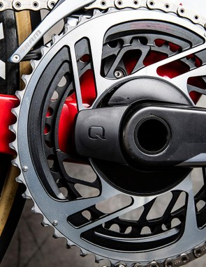 Porte had his chainring sizes blacked out with a marker pen at the Tour Down Under but rode a 50/37 combination