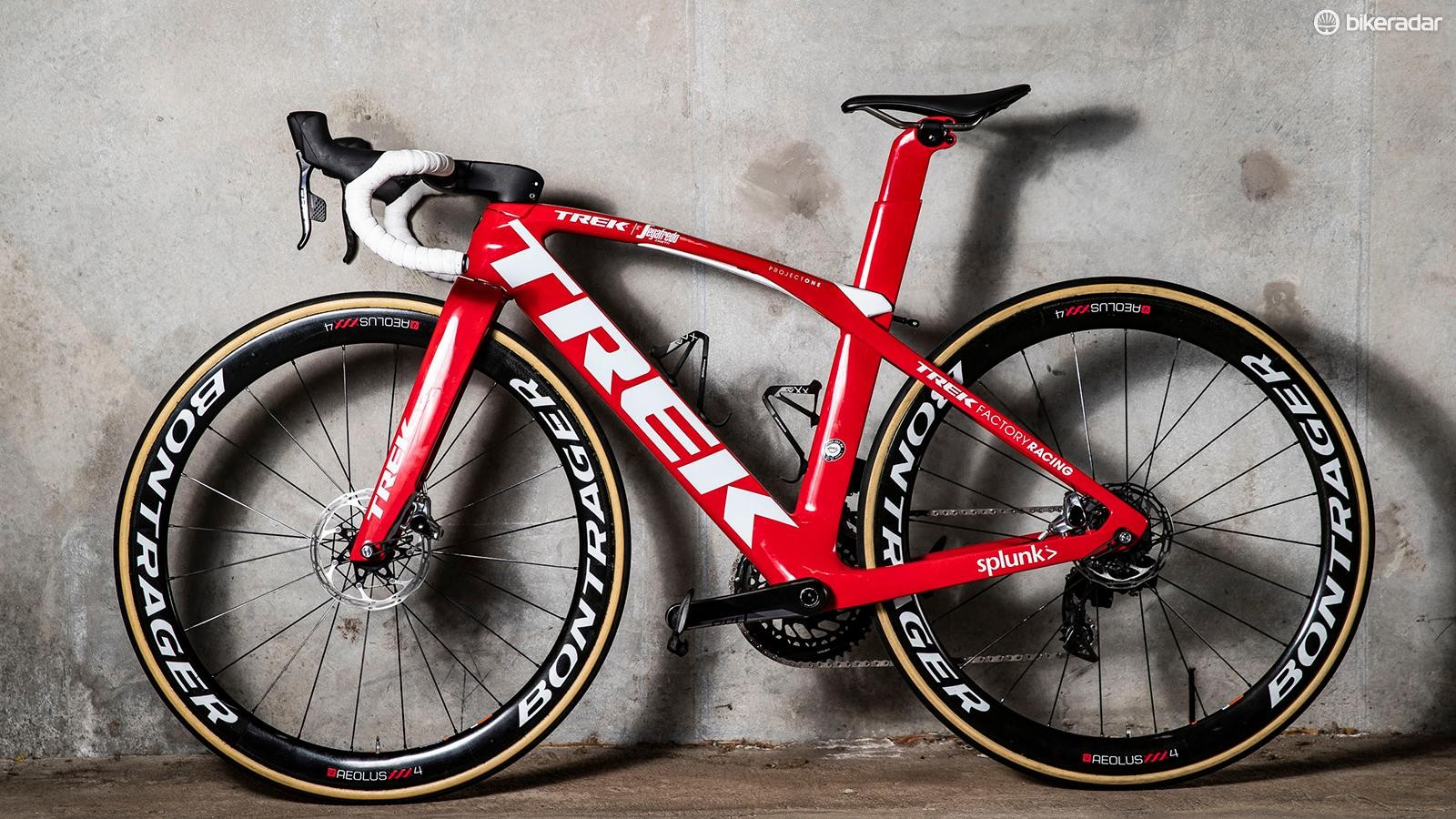 A look at the non-driveside of Richie Porte's Trek Madone