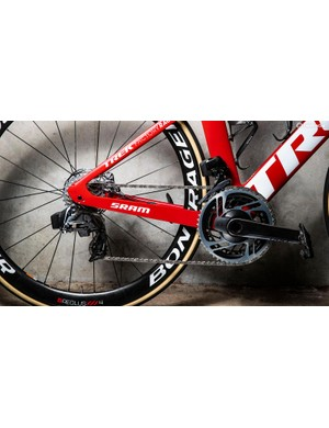 Trek-Segafredo has been racing on the new SRAM Red eTap AXS drivetrain since the WorldTour opener at the Tour Down Under