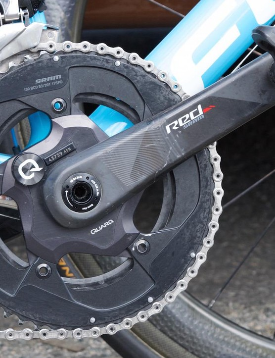 SRAM Red 53-39 chainset, featuring a Quarq powermeter
