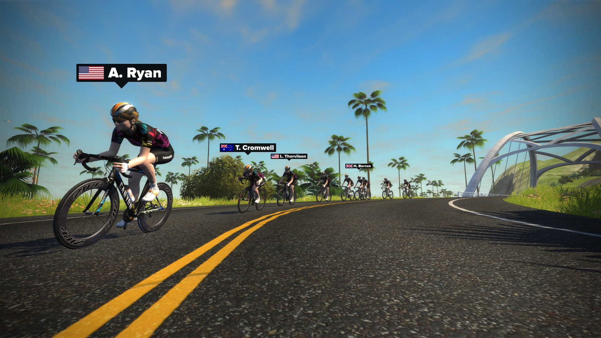 Participants in the Academy took part in rides and training programs online with Zwift
