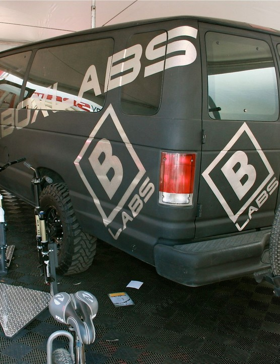 SRAM's Black Boxmobile.