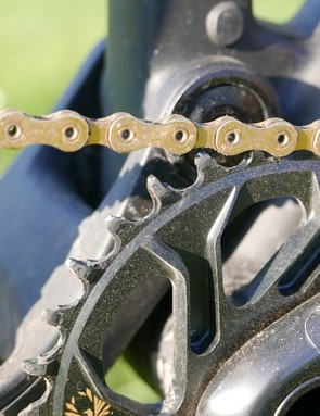 The 12-speed chain caused real headaches for SRAM, but new processes allowed engineers to make it thinner, flatter and with smoother edges to reduce wear
