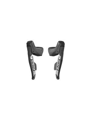 The RED eTap AXS shifters are essentially the same shape as the previous shifter but with a carbon and chrome makeover and a new more ergonomic hood cover