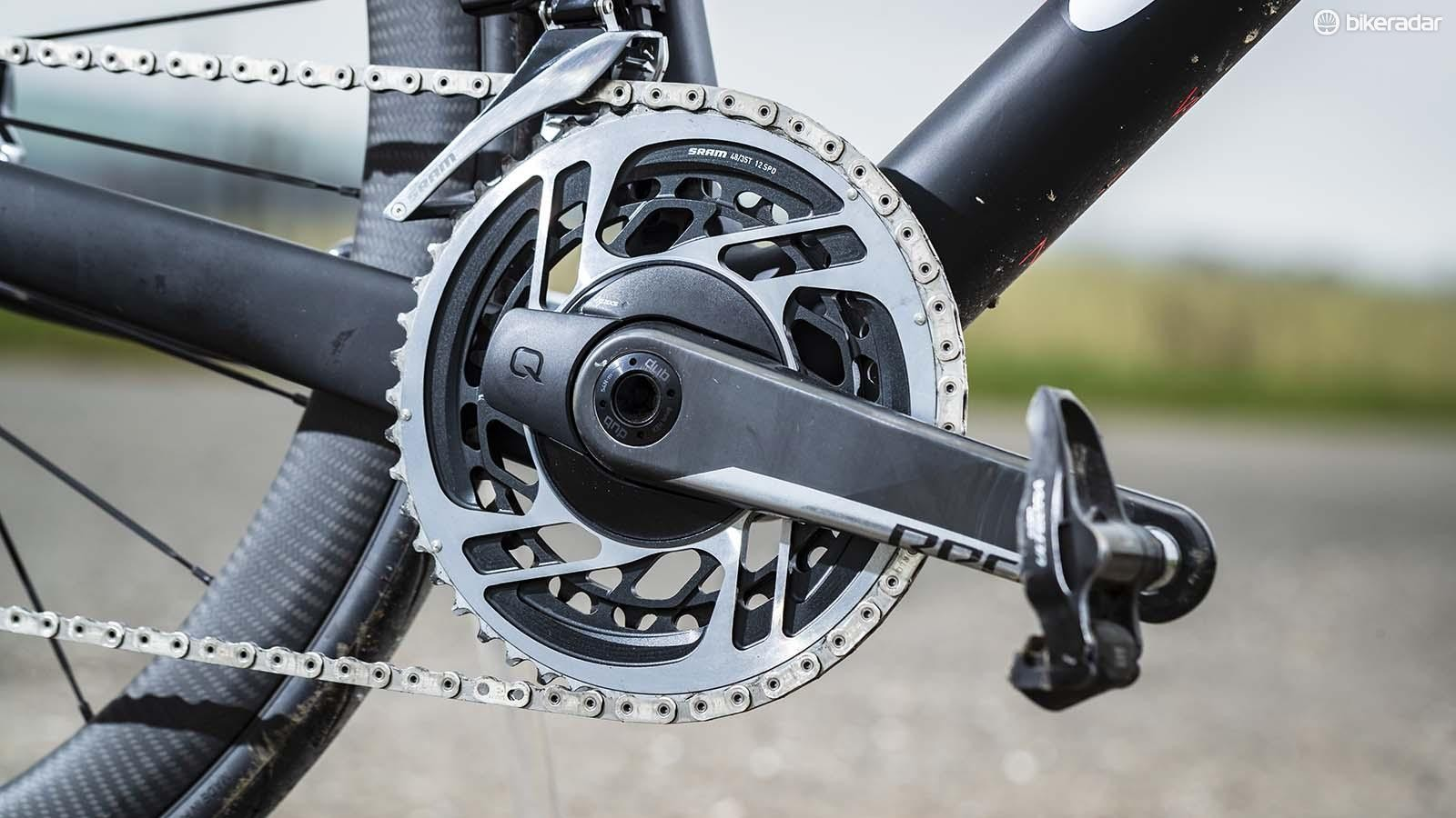 The new one-piece direct mount double chainrings for the RED crankset are a serious piece of machining