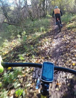 The bike handles twisty singletrack with surprising ease