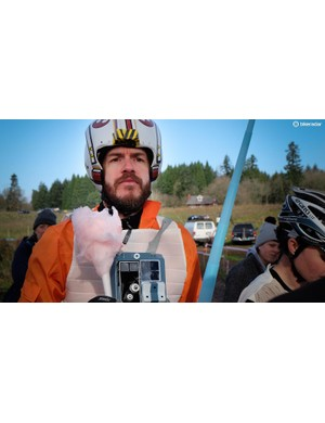 When Poe Dameron isn't piloting his X-wing in a galaxy far away, he's spectating with lightsaber and cotton candy in hand