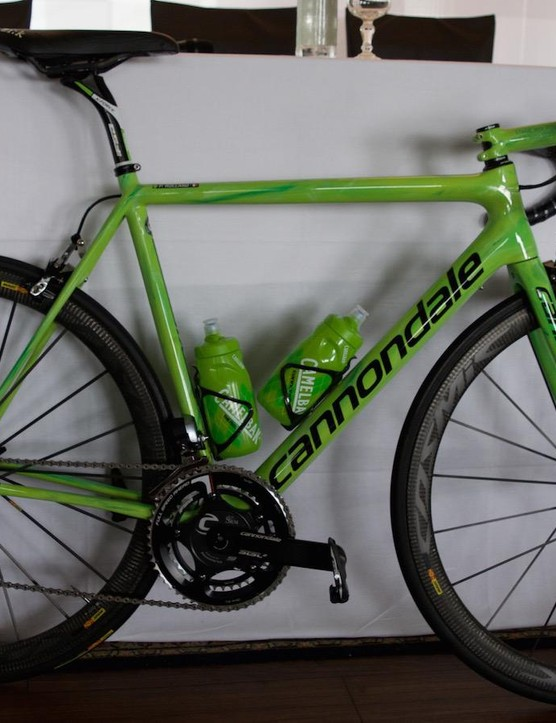 Don't be fooled: the green on French climber Pierre Rolland's SuperSix Evo Hi-Mod is for his Cannondale-Drapac team colours, not a statement of intent regarding his points jersey ambitions