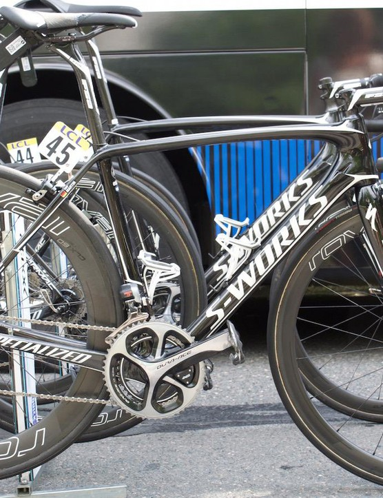 Etixx-QuickStep's German time trial ace Tony Martin opts for a S-Works Tarmac from Specialized