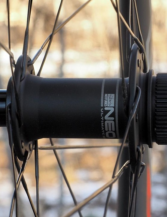 End caps on the hubs are easily interchanged for use with different axle standards. Multiple sets are included