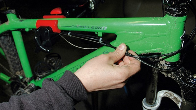 Secure your handlebars with a zip tie or toe strap to keep them out of the way