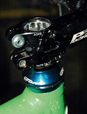 Ensure there is a 3 to 5mm gap between the steerer and the top of your stem or spacer