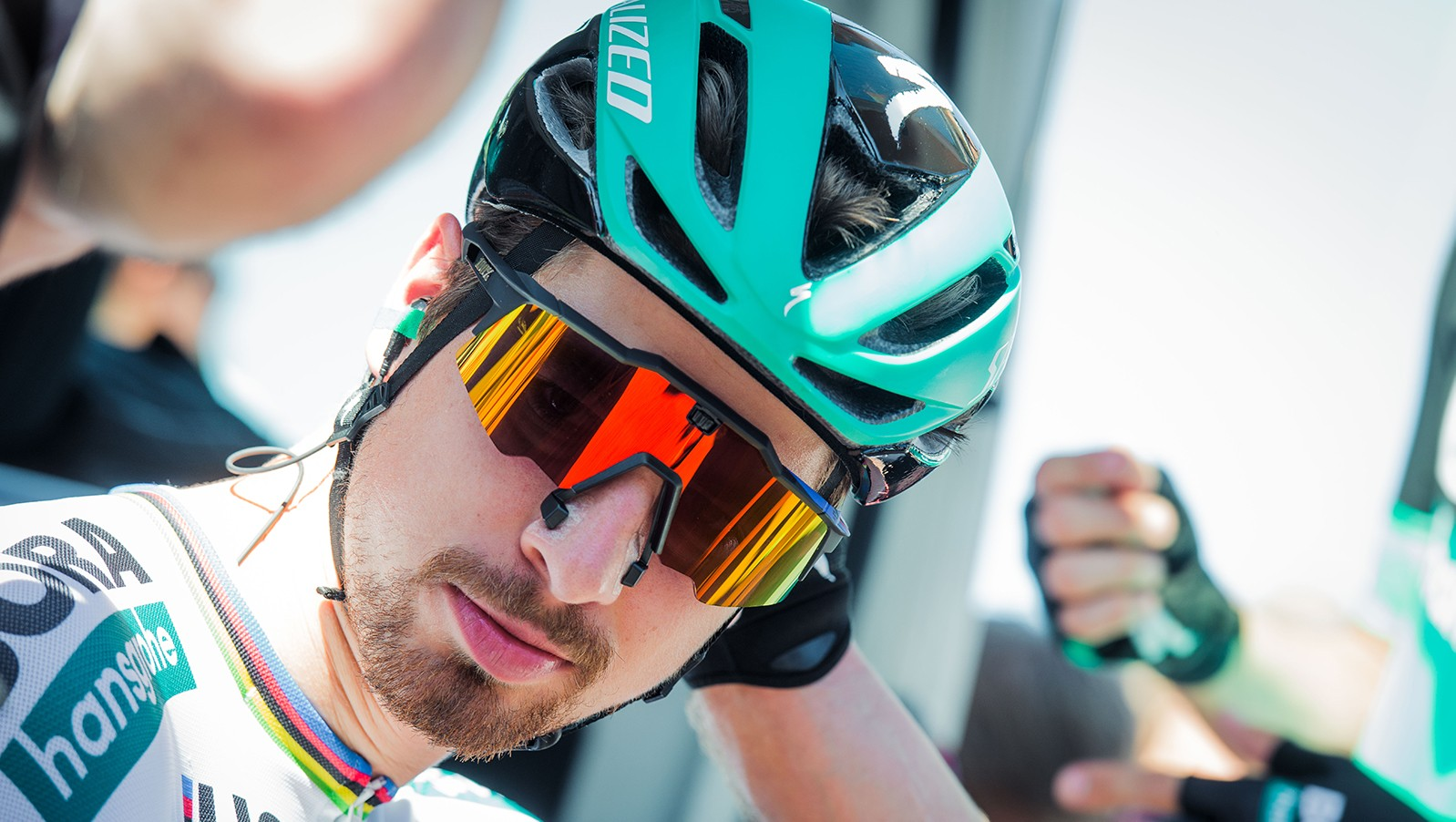 Peter Sagan with his pair of the glasses
