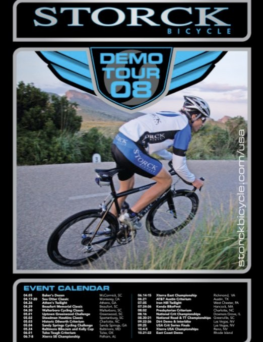 The Storck Demo Tour poster.