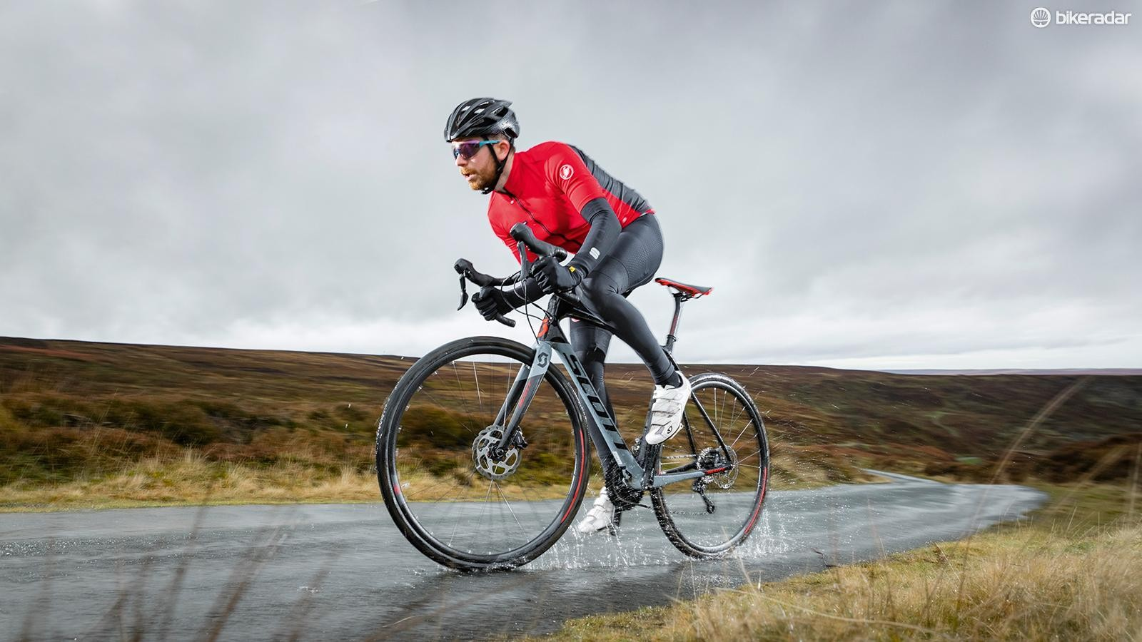 The climbs don't get any easier when an Arctic storm is bullying you…