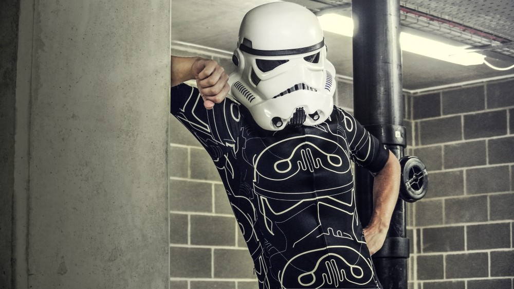 The Shadow design features an abstracted Stormtrooper helmet