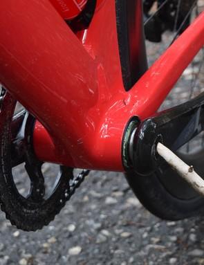 The Strada uses the BB386EVO bottom bracket standard