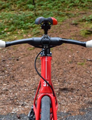 The Strada presents a slippery profile to the wind