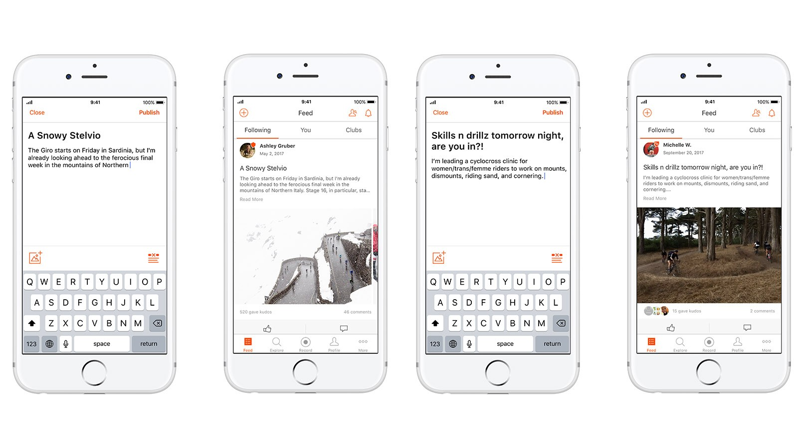 Strava's new Athlete Posts feature allows athletes to share more than just rides